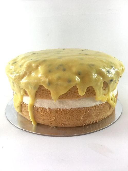 Gluten free passionfruit sponge