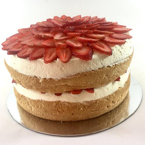Gluten free strawberry sponge cake