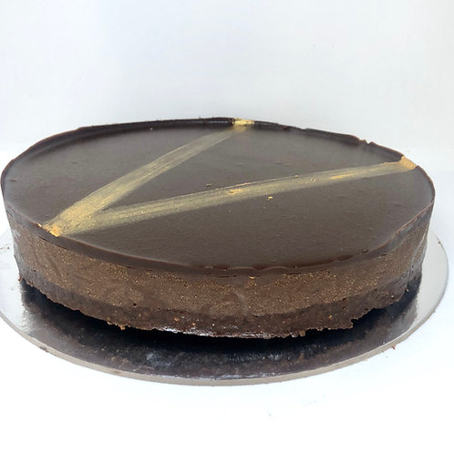 Chocolate and peanut butter Vegan cheesecake