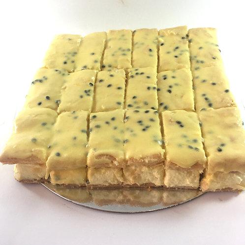 Homemade vanilla slice slab