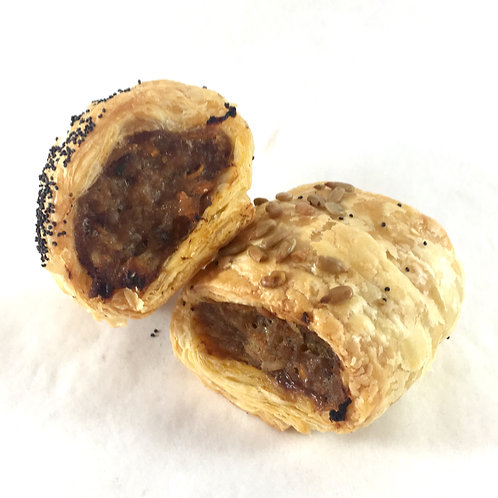 Mini sausage roll - beef, veggie and vegan - min order 6