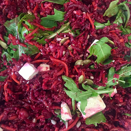 Quinoa, roasted beetroot and carrot salad