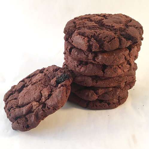Dark chocolate and sour cherry cookie