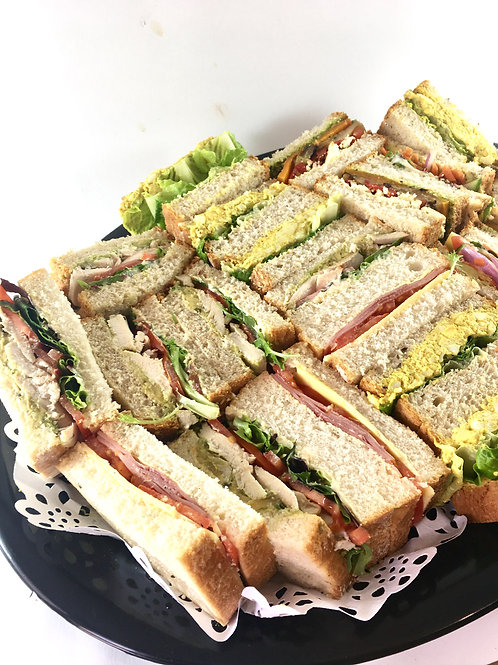 Sandwich and roll platter- sizes and bread types
