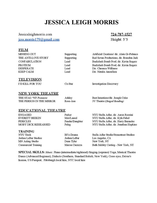 Jessica Leigh Morris Resume - LA-3-page-