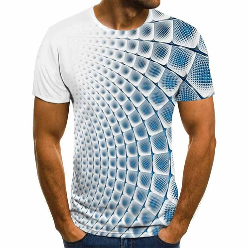 Summer Three-Dimensional 3D Vortex T-Shirt Men Women Fashion 3D T Shirt Short