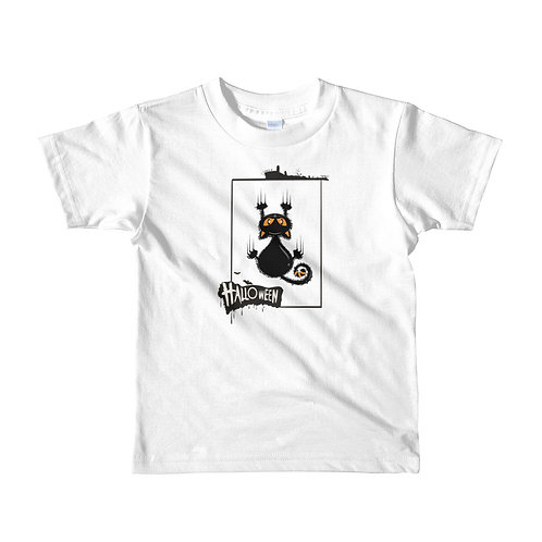 Halloween phrase with frame and cat, Halloween day, Halloween party kids t-shirt