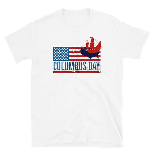 Happy Columbus Day Short-Sleeve Unisex T-Shirt