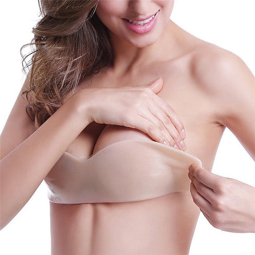Silicone Invisible Bra Strapless One-Piece Push Up Bra Pad Self Adhesive Bra