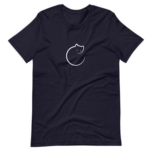 Cute cat, hand drawn sleepwalking cat - Short-Sleeve Women T-Shirt