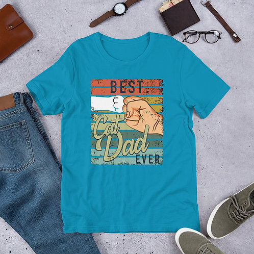 BEST CAT DAD EVER Short-Sleeve MenT-Shirt