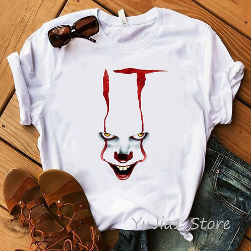 Funny IT Movie T-Shirt Femme 2020 Summer Hot Stephen King Printed Tshirt Clown