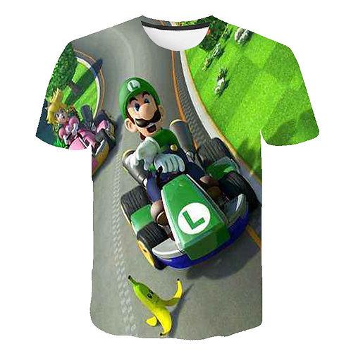 Mario Kids T Shirt Racing Pattern Printing 3D T Shirt Boys Girls Funny Hip Hop