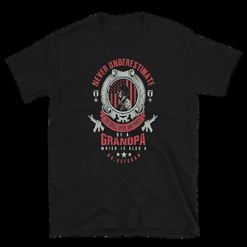 Never underestimate of a GRANDPA Short-Sleeve Unisex T-Shirt