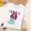 Thumbnail: VOGUE New Arrival Princess Print Kids T Shirt Funny Kawaii Cartoon Girl Top
