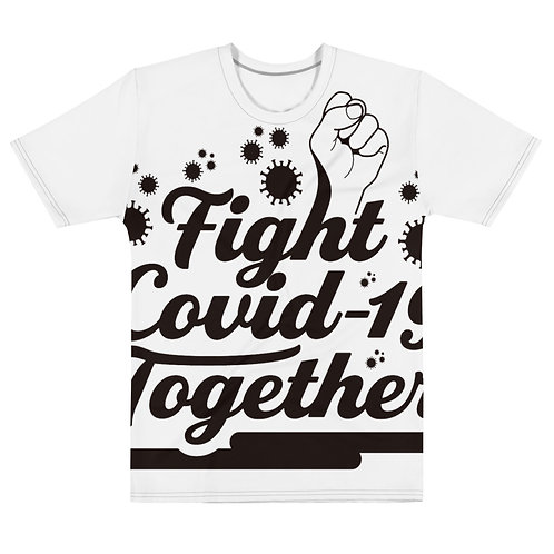 Fight Covid-19 together Men's T-shirt