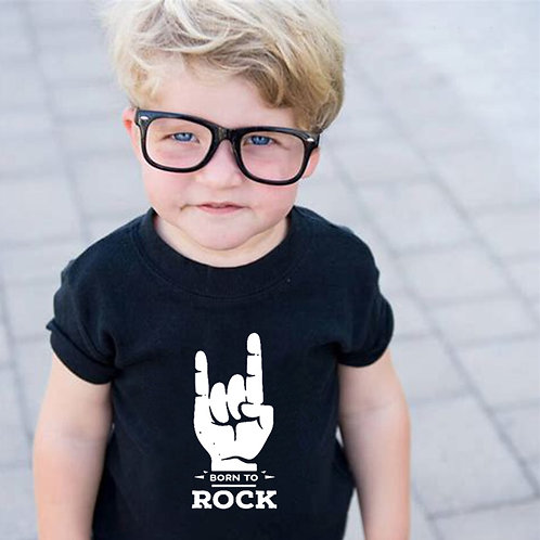 Born to Rock Kids T-Shirt Boys Girls Unisex Baby Clothes Cool Fashion Style Top