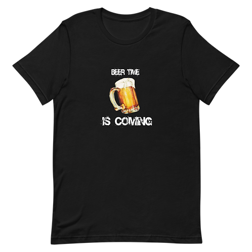 Beer time is coming - Short-Sleeve Men T-Shirt