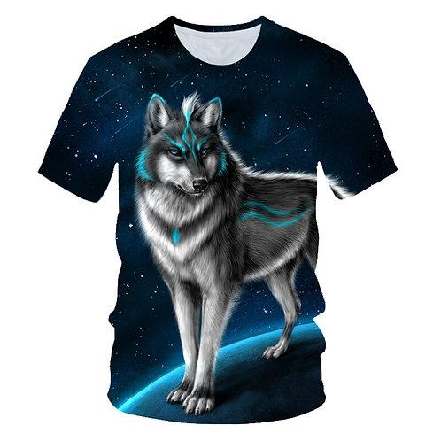 Animal Wolf 3D Printed Kids T-Shirt Fashion Summer Cartoon Short Sleeve T Shirt