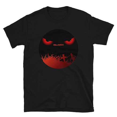Terrifying eyes emerge from the darkness, Halloween Day, Halloween Party T-Shirt