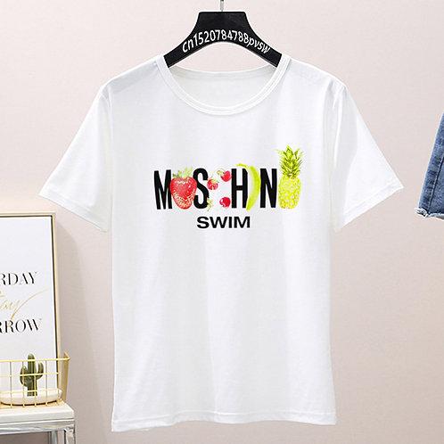 2020 Women Luxury Brand Funny White Grey Pink T Shirt Summer