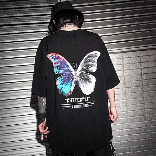 Hip Hop Oversize T Shirt Men 2020 Streetwear Harajuku Color Butterfly Tshirt