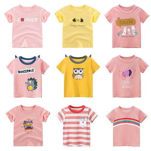 Girls  T Shirt  Kids Tops Boys Toddler Infant Children'sClothes 2020 New Summer