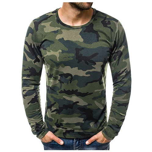 JAYCOSIN T Shirt Mens Casual Slim Camouflage Printed T Shirts Homme Autumn .....