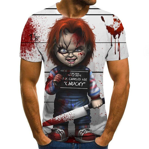 2020 Mens Horror T Shirts Fashion New Summer Men's Short Sleeve TShirt Casual 3D