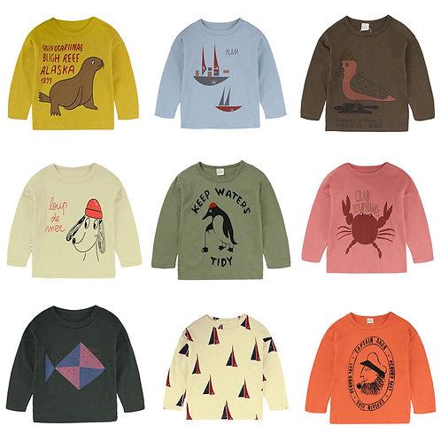 Top T Shirt for Boy,Print Children Boys T Shirt Spring Autumn Kids Tshirt Cotton