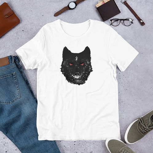 A wolf picture expressing strength and masculinity -Short-Sleeve MAN T-Shirt