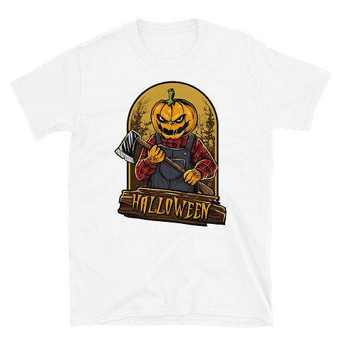 Scary Pumpkin with an ax, a Halloween phrase,Halloween Tshirt for women and men