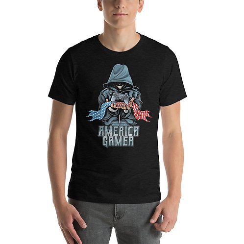 AMERICA GAMER Short-Sleeve Unisex T-Shirt