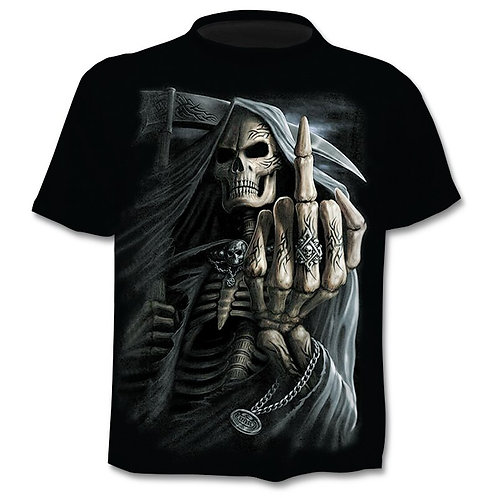 2020 New Design T Shirt Men Heavy Metal Grim Reaper Skull 3D Printed TShirts
