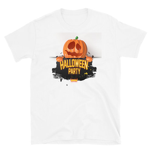 A scary pumpkin bearing the phrase Happy Halloween Day,Halloween party T-Shirt