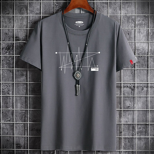 Summer Men's T-Shirt Brand Clothing T-Shirt Men's O-Neck Loose Large  T-Shirt