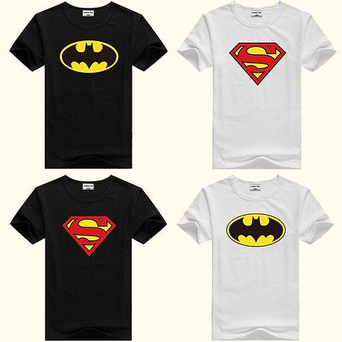 DMDM PIG Batman Superman Short Sleeve Tops Kids Clothing TShirt Size 2 3 4 5 Y