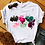 Thumbnail: Womens Graphic 3D Finger Nail Paint Color Fashion Cute Printed Top Tshirt