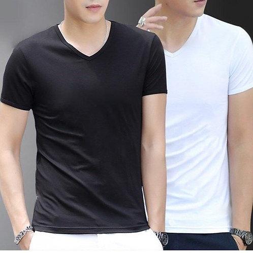 Street Vendor Night Market High Quality Summer White T-Shirt MEN'S Short Sleeve