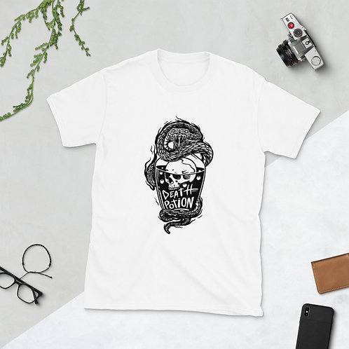 Death Potion With a skull and a snake fought Short-Sleeve Men T-Shirt