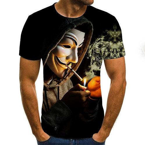 2020 Hot-Sale Clown 3D Printed T Shirt Men Joker Face Male Tshirt 3d Clown Short