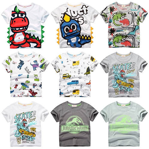 INPEPNOW Children T-Shirt for Boy 2020 Tops Cartoon Kids Tshirt Clothes 5-14 Yrs