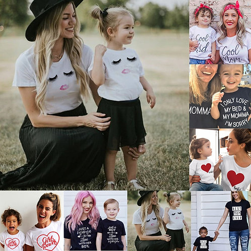 Family Tshirts Boys Girls Mom Mother Mommy and Daughter Son Family TShirt Family