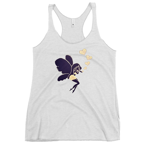 Beautiful butterfly, hearts and love, hand drawn Women's Racerback Tank