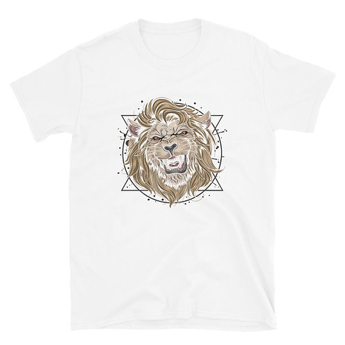 A roaring lion denotes strength and courage Short-Sleeve Men T-Shirt