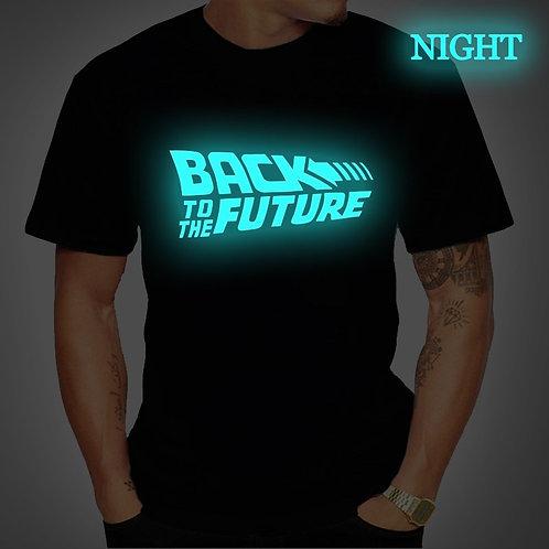 Back to the Future Tshirt Luminous TShirt Camiseta Summer Short TShirts 4XL