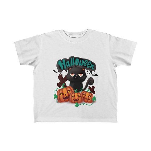 Halloween Cat, Halloween Ghost, Halloween Day, Kid's Fine Jersey Tee