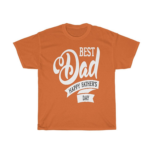 Best Dad Happy Father Day - Unisex Heavy Cotton Tee