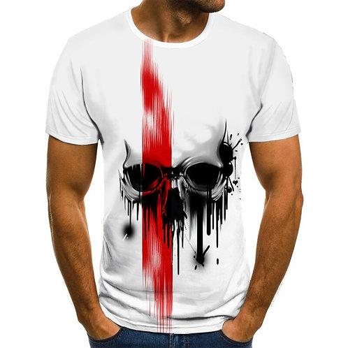 Summer Summer Men's T-Shirt New 3D Printing T-Shirt Men's Skull Devil T-Shirt