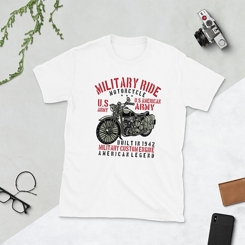 MILITARY RIDE MOTORCYCLE US ARMY Unisex T-Shirt